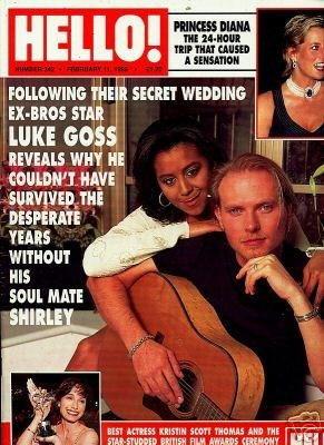 Gallery of Bw-IR Celebrity/High Profile Couples: Shirley and Luke Goss